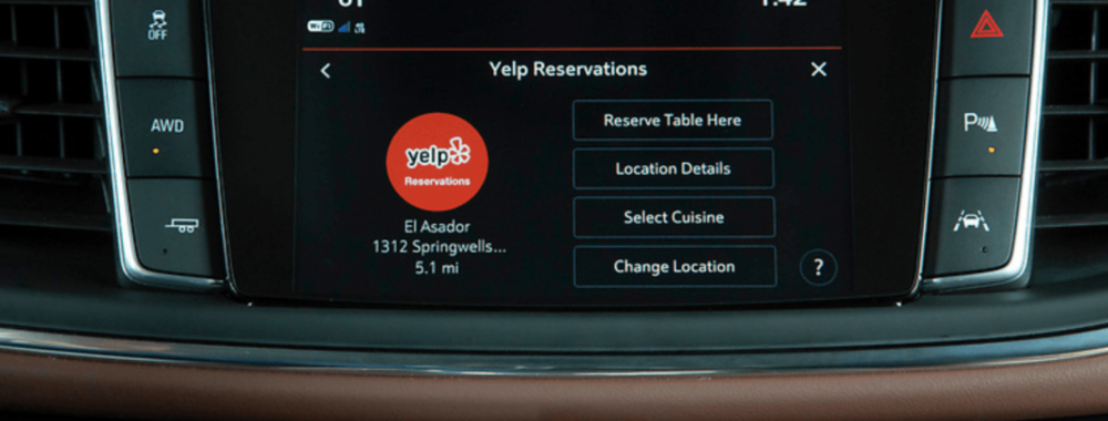 Reserve a Table On-The-Go: Yelp Reservations Launches in Buick Marketplace