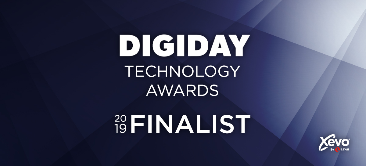 Xevo Selected as a Finalist for 2019 Digiday Technology Awards 1